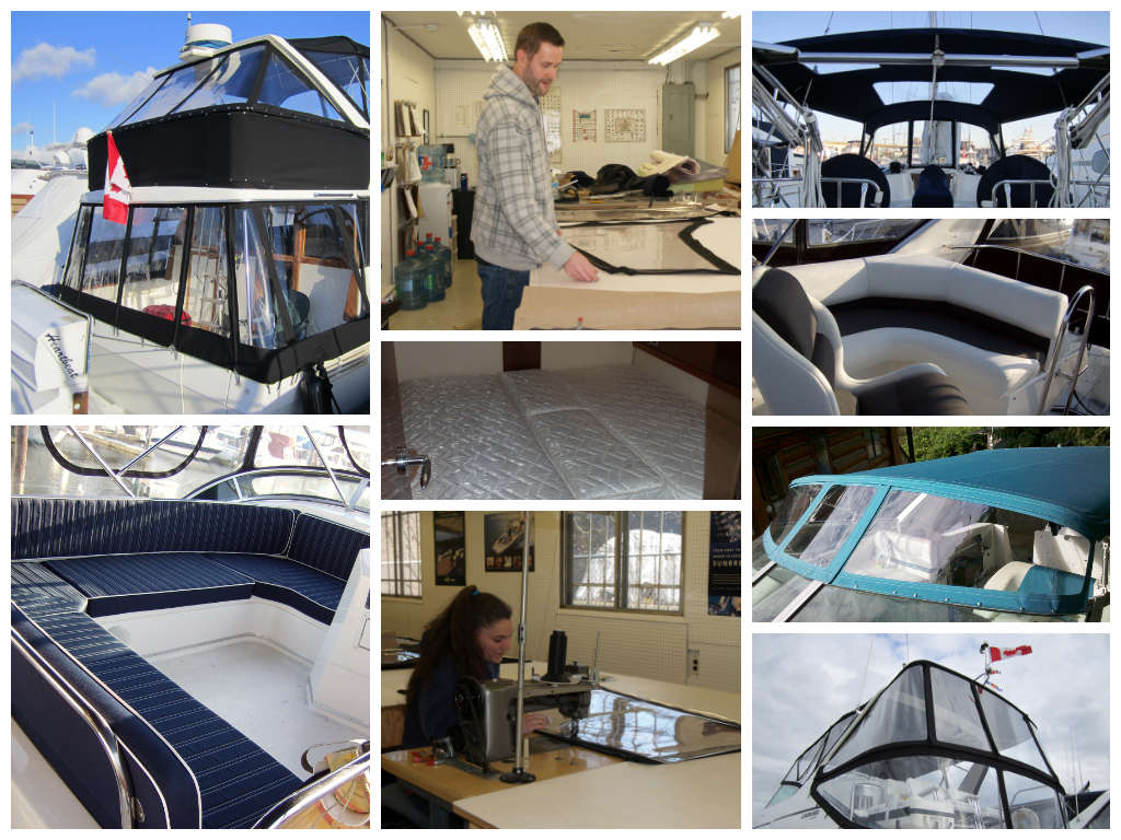 Custom canvas and upholstery projects by Northshore Yachtworks