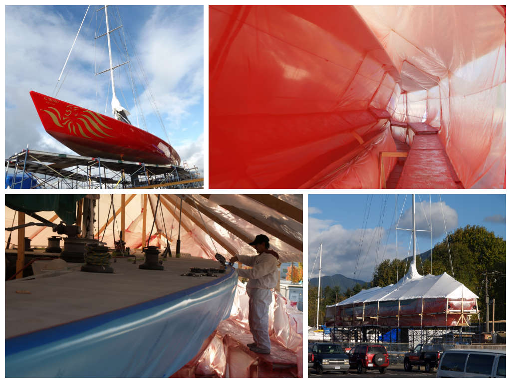 Custom painting done by Northshore Yachtworks