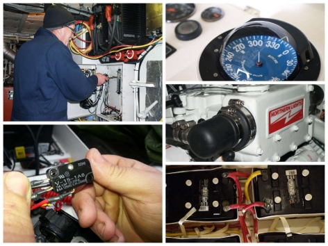 Electical and mechanical repair done by Northshore Yachtworks