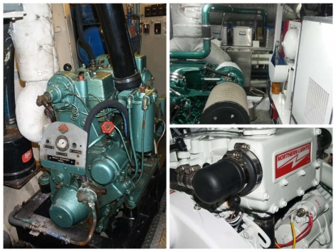 Yacht generators undergoing repair at Northshore Yachtworks
