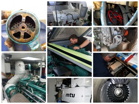Yacht engine repair and maintenance done by Northshore Yachtworks